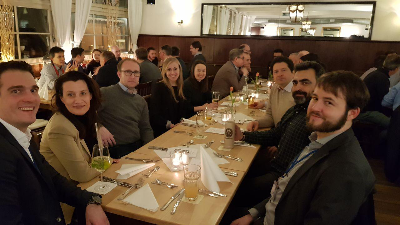 Der Partnertag 2018 wurde mit einem Get-Together und Dinner im Brunnwart abgeschlossen