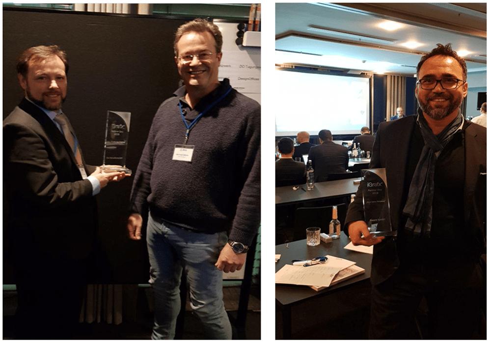 Trevor Moore und Michael White von iGx Solutions Ltd und Musa Ilik von Kware GmbH
